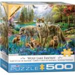 Puzzle  Eurographics-6500-5360 XXL Teile - Wolf Lake Fantasy
