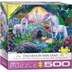 Puzzle  Eurographics-6500-5363 XXL Teile - Magisches Einhorn Feenland