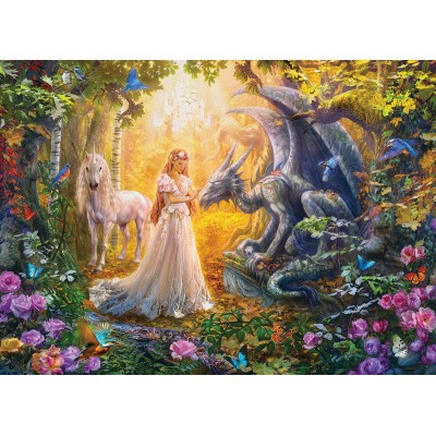 Puzzle  Eurographics-6500-5458 XXL Teile - Princess' Garden