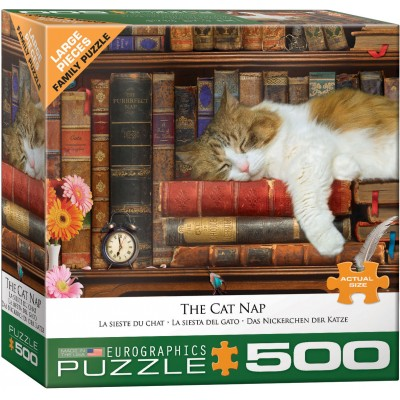 Puzzle  Eurographics-6500-5545 XXL Teile - The Cat Nap