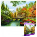 Puzzle  Eurographics-8000-0695 Dominic Davison: Kirche im Herbst