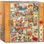 Puzzle  Eurographics-8000-0806 Blumen-Saatgutkatalog