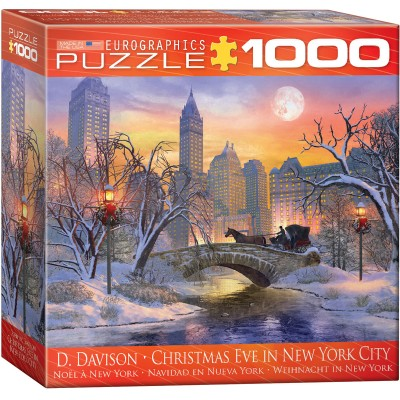 Puzzle  Eurographics-8000-0915 Dominic Davison - Weihnacht in New York