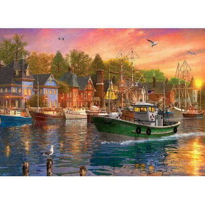 Puzzle  Eurographics-8000-0969 Dominic Davison - Harbor Sunset