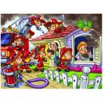 Puzzle  Eurographics-8100-0512 Girl Power - Feuerwehrfrauen