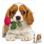Puzzle  Eurographics-8104-0617 Chien à la rose