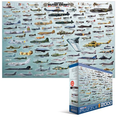 Puzzle  Eurographics-8220-0578 Kriegsflugzeuge Evolution