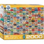 Puzzle  Eurographics-8220-0783 Volkswagon Groovy Bus Collage