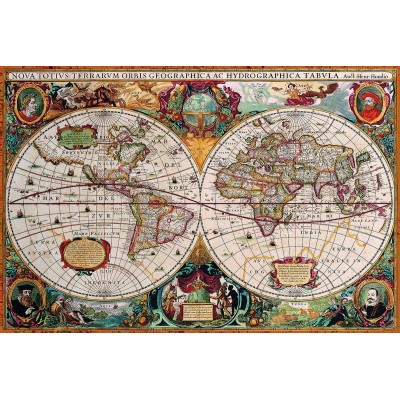 Puzzle  Eurographics-8220-1997 Antique World Map