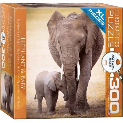 Puzzle  Eurographics-8300-0270 XXL Teile - Elefant und Baby