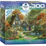 Eurographics-8300-0977 XXL Teile - Familiy Puzzle: Dominic Davison - White Swan Cottage