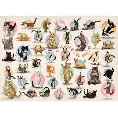 Eurographics-8300-0991 XXL Teile - Familiy Puzzle: Yoga Kittens