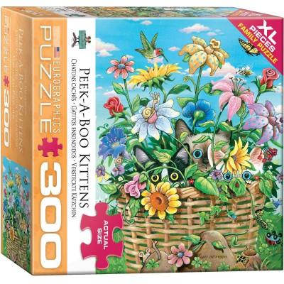 Puzzle  Eurographics-8300-5368 XXL Teile - Versteckte Kätzchen
