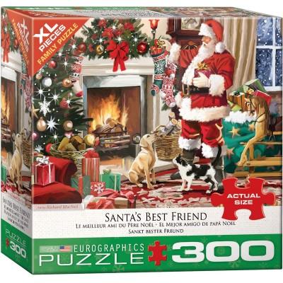 Puzzle  Eurographics-8300-5399 XXL Teile - Santa's Best Friend