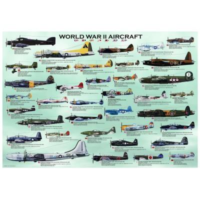 Puzzle  Eurographics-8500-0075 Flugzeuge aus dem Zweiten Weltkrieg