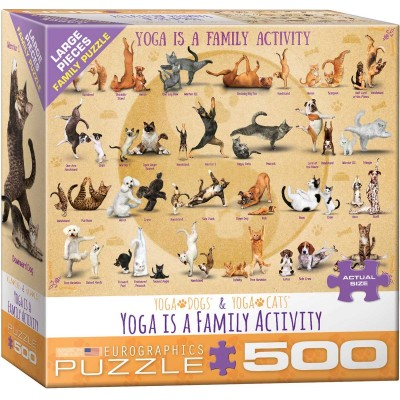 Puzzle  Eurographics-8500-5354 XXL Teile - Yoga is A Family Activity