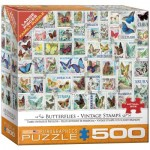 Puzzle  Eurographics-8500-5356 XXL Teile - Vintage Stempel von Schmetterlingen