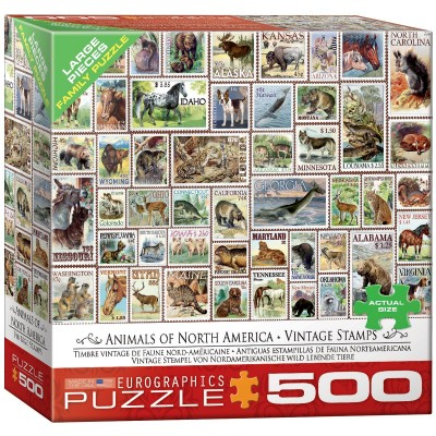 Puzzle  Eurographics-8500-5359 XXL Teile - Vintage Stempel
