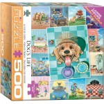 Puzzle  Eurographics-8500-5365 XXL Teile - Süße Hunde Collage
