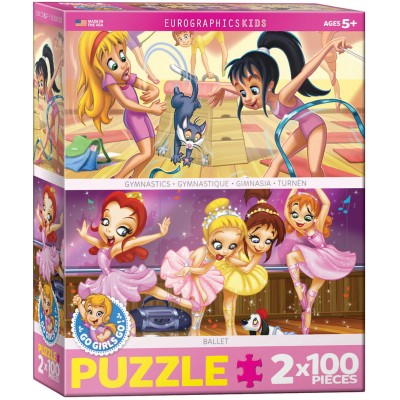 Eurographics-8902-0624 2 Puzzles - Ballet & Turnen