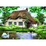 Puzzle  Jumbo-11014 Cottage am Schwanenteich