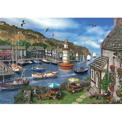 Puzzle  Jumbo-11052 Dominic Davison: Summertime Harbour