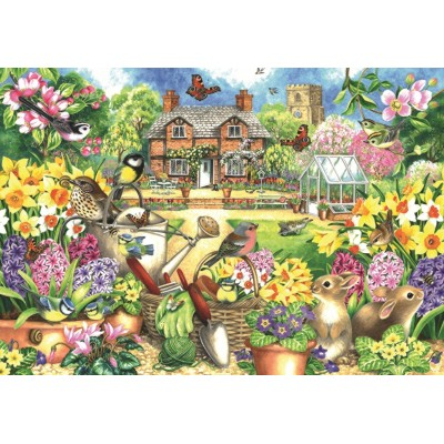 Puzzle  Jumbo-11106 Claire Comerford - Spring Garden