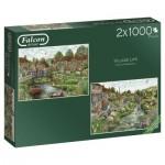 Jumbo-11216 2 Puzzles - Village Life