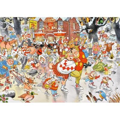 Puzzle  Jumbo-11223 Christmas on Ice
