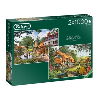 Jumbo-11248 2 Puzzles - Beautiful Summer's Day