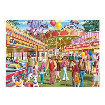 Puzzle  Jumbo-11251 XXL Teile - Fun at the Fair