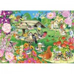 Puzzle  Jumbo-11253 Summer Garden Birds