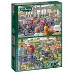 Jumbo-11312 2 Puzzles - Motorcycle Show