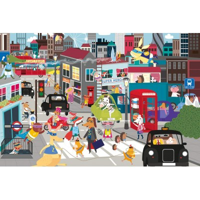 Puzzle  Gibsons-G1032 Superhero City