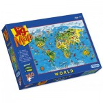 Puzzle  Gibsons-G1050 Weltkarte