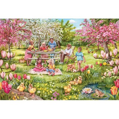 Puzzle  Gibsons-G2709 XXL Teile - Five Little Ducks