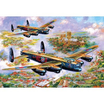 Puzzle Gibsons-G3113 Jim Mitchell - Lancasters Over Lincoln