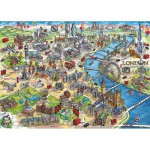 Puzzle  Gibsons-G3402 Maria Rabinky: London Landmarks