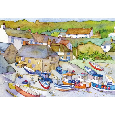 Puzzle  Gibsons-G3414 Emma Ball - The Fishing Village