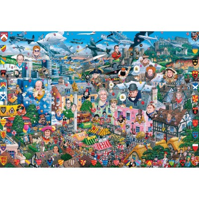 Puzzle  Gibsons-G3419 Mike Jupp - I Love Great Britain