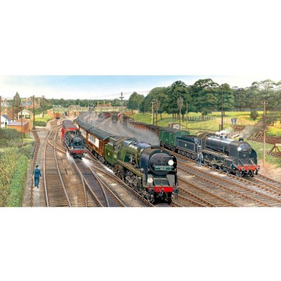 Gibsons-G4018 Puzzle 636 Teile Panorama - New Forest Junction