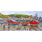 Puzzle  Gibsons-G4045 Roger Neil Turner - Seagulls at Staithes