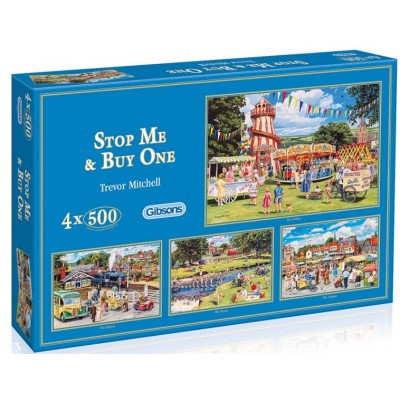 Gibsons-G5012 Puzzle 4 x 500 Teile: Stop Me and Buy One