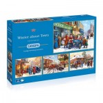 Gibsons-G5043 4 Puzzles - Kevin Walsh - Winter about Town