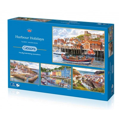 Gibsons-G5052 4 Puzzles - Terry Harrison - Harbour Holidays