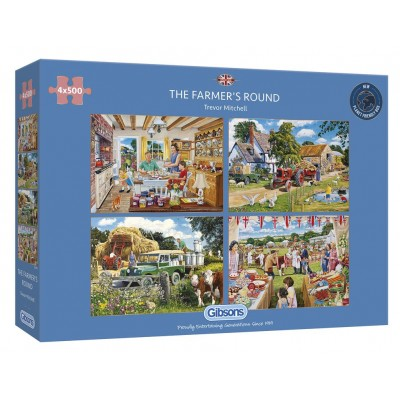 Gibsons-G5055 4 Puzzles - The Farmer's Round