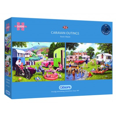 Puzzle Gibsons-G5057 Caravan Outing (2x500 Teile)