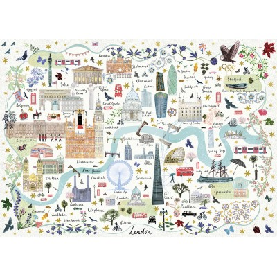 Puzzle  Gibsons-G6606 Map of London