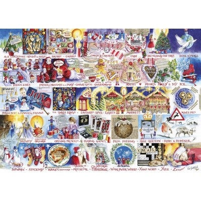 Puzzle Gibsons-G7104 Christmas Alphabet