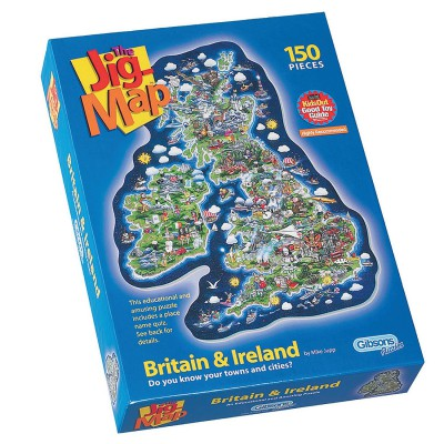 Gibsons-G841 Puzzle 150 Teile XXL - Jigmap